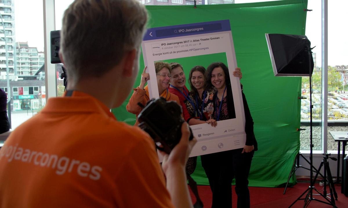 Green Screen fotografie Congres